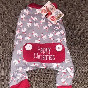 Happy Christmas llama pajamas for small dog